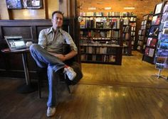 Buddhist Waylon Lewis contemplates his walk, and his Elephant Journal at Boulder's Trident Booksellers and Cafe. ~ Douglas Brown, The Denver Post, April 5, 2012