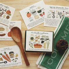 recipe cards by Quill & Fox via Lottie Loves...