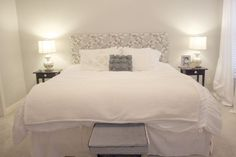 Perfect instructions for a king sized DIY-Upholstered-Headboard