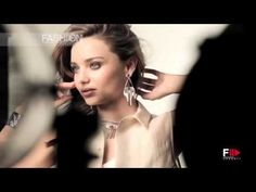 "MIRANDA KERR for ""SWAROVSKI"" Behind the Scenes Photoshoot by Fashion Channel - YouTube"