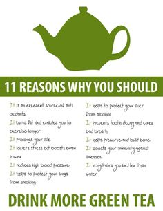 I drink green tea.  Liquid Oomph!  #Shaklee products, green tea, weight loss, energy   $29.95 Retail  Pack of 28 sticks of tea --- Discount available.  Contact me.   Trudy