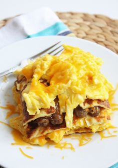 Low Carb Breakfast Lasagna - what a great idea - especially if you have several people for breakfast. Nice