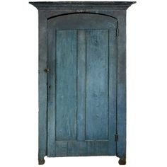1880 blue painted cupboard