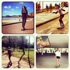 #atitudeboaforma: Top 4 skate... @angelicabanhara @Jaqueline Corrêa Amadeu @betapures_puroego @gabimanssur #exercicios #skate #boaforma
