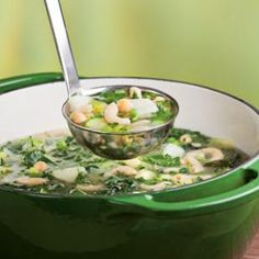Green Vegetable Minestrone Recipe | Eating Well