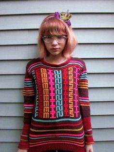 Kathleen Hanna's feminist sweater #feminism #knit