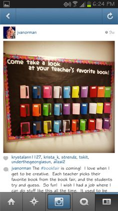 Display your teacher's favorite books