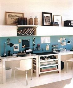 6 Creative but Functional Home Office Designs   The Stir office spaces, desk space, living rooms, office designs, home office design, organized office, organized home, home offices, workspac