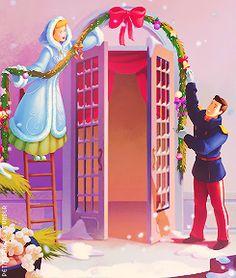 Cinderella and Prince Charming are officially decking the halls! | #disneychristmas #disneyxmas #disney #christmas #holiday #xmas