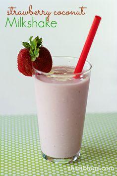 Skinny Strawberry Coconut Milkshake