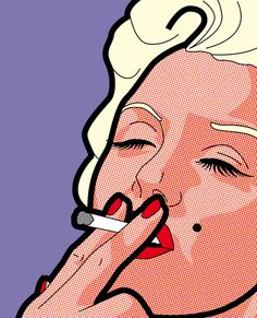 pop art - Madonna smoking cigarette