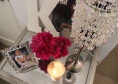 DIY Glitter N Glue Bead Chandelier Lamp How To