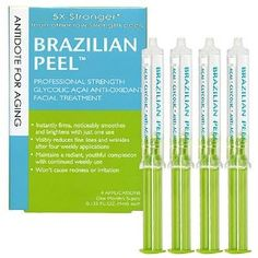 Brazilian Peel $78.00 Ingredients  Water, Glycolic Acid, Magaldrate, L-Arginine, Glycerine, Euterpe Oleracea (Acai) Oil, Hydroxyethylcellulose, Xanthan Gum, Sodium Hydroxymethylglycinate, Fragrance.