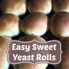 "The (mis)Adventures of a ""Born Again"" Farm Girl: Homestead Tips on Tuesday: Easy Sweet Yeast Rolls"