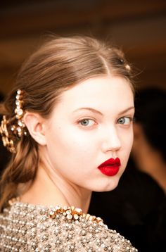 the lips!! lindsey wixson. photo by Nathan Kraxberger. lipsticks, lindsey wixson, fashion, nathan kraxberg, bells, doll face, red lips, hairstyl, beauty