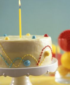 Bouncing Ball Cake: We love a good birthday theme, and this sweet treat is perfect for a Bouncy Party.