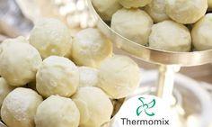 Receta de Trufas de chocolate blanco al cava para Thermomix