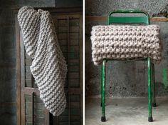 Chunky Knit Wool Throw Blankets