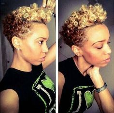 color combos, short cuts, short styles, natural curls, summer colors, ombr curl, ombr color