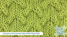 Arched Cable Stitch