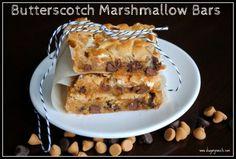 Butterscotch Marshmellow Bars