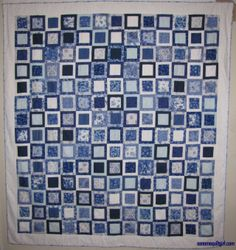 Delft Boxes quilt by Sonoma Quilt Girl. I love the way these equal-sized blocks jiggle when you look at them.