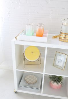 DIY Ikea hack bar cart | sugarandcloth.com