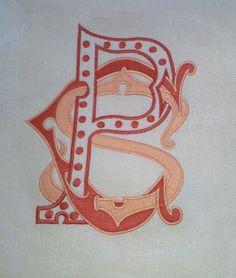 Custom hand drawn monograms @GramercyHome #gramercy #monograms
