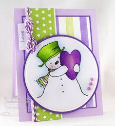 PI Happy Heart Snowman, Peek-a-Boo Stars Die-namics, Pierced Circle STAX Die-namics, Circle STAX 1 Die-namics - Cindy Lawrence #mftstamps