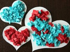 Magnetic Tissue Paper Hearts would make an awesome valentine's day school party craft