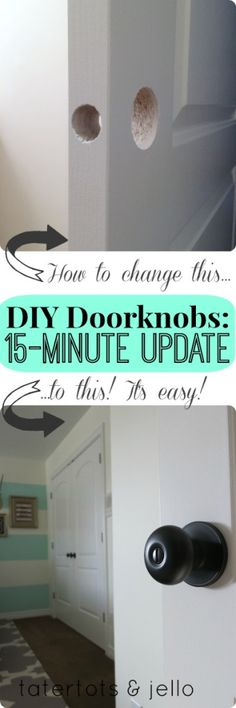 DIY Doorknobs: Secrets to a 15-Minute Update -- Tatertots and Jello #DIY