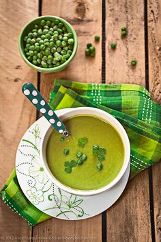 Split pea soup with wasabi