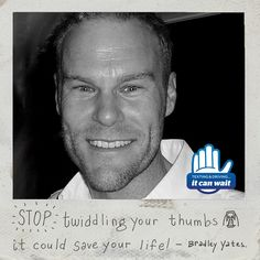 """Reason 97 #ItCanWait: """"Stop twiddling your thumbs…it could save a life!"""" Take the pledge to never text and drive again at itcanwait.com"""
