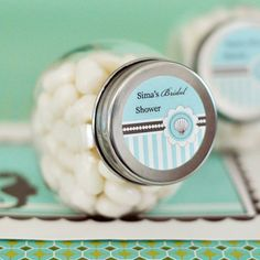 Personalized Candy Jars - Beach Party at WeddingFavors.org