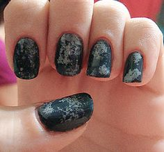 sponged texture nails