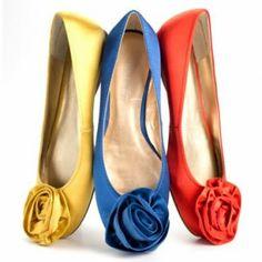 colorful ballet flats
