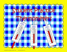FREE! Student Practice Thermometers