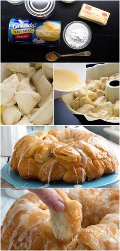 Spiced Eggnog Monkey Bread #pillsbury
