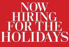 Seasonal #Jobs Make Dollars and Sense  #hiring #holidays