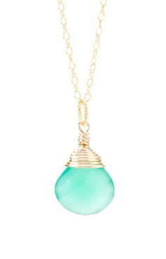 KEVIN N ANNA Emerald & Gold Pendant Necklace