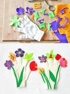 DIY Fresh & Fabulous Flower Gloves for Kids