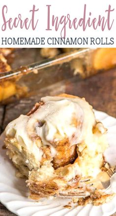 The best homemade cinnamon rolls ever! If you love gooey cinnamon buns, here's the secret ingredient. Everyone raves about these homemade yeast rolls. #cinnamonrolls #breakfast #brunch #cinnabon #copycat via @tastesoflizzyt