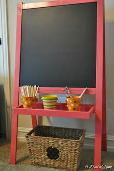Love the color - perfect for a play room! When we get our Ikea easel it will certainly be getting a paint.