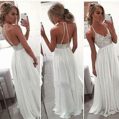 2016 Sexy Backless Halter Beach Wedding Dress Bridal Gown Custom 2 4 6 8 10 12++