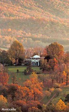 Thomas Jefferson's Monticello, Charlottesville, Virginia in autumn