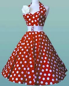 Rockabilly Polk A Dot Dress