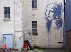 'Girl with a Pierced Eardrum' by Banksy