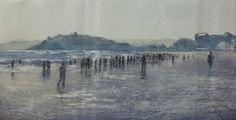 """Paseo por la playa"" by Santander, Spain-based artist Tomas Castano. #art #ArtistBecome"