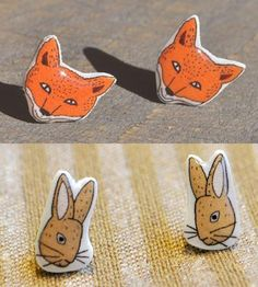 Fox & Rabbit Earring Sets