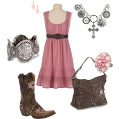Pink & Brown Cowgirl